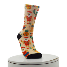 Christmas With Snowman Pattern Digital Printed Socks