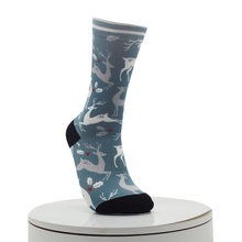 Sika DeerPattern Digital Printed Socks
